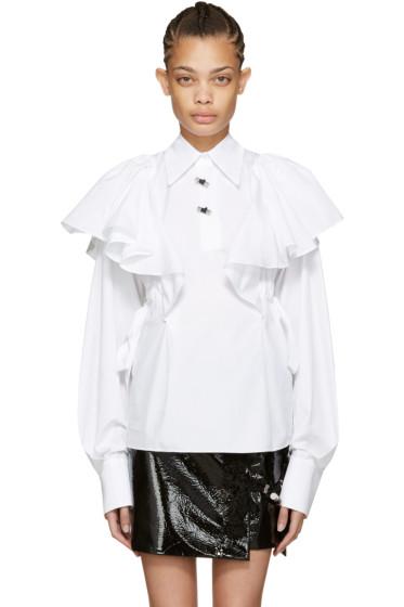 Kenzo - White Oversized Ruffle Shirt