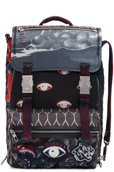 Kenzo - Multicolor Eyes Backpack