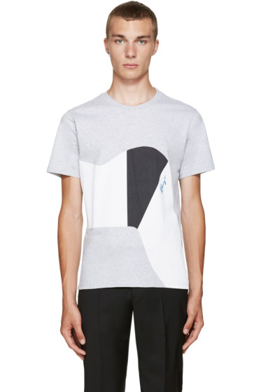 Kenzo - Grey Graphic T-Shirt