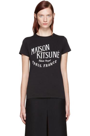 Maison Kitsuné - Black Logo T-Shirt