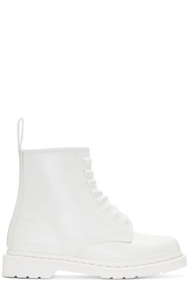 Dr. Martens - White Eight-Eye 1460 Mono Boots
