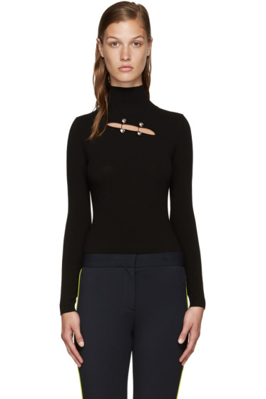 Versus - Black Cut-Out Turtleneck