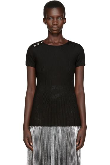 Versus - Black Ribbed T-Shirt