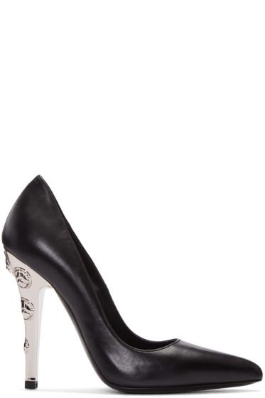 Versus - Black Leather & Metal Heels