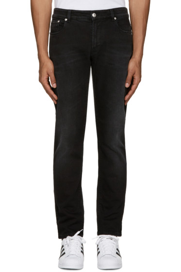 Versus - Black Slim Lion Medallion Jeans