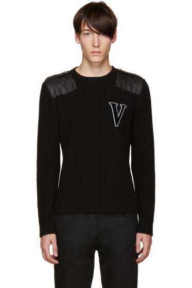 Versus - Black Wool 'V' Sweater
