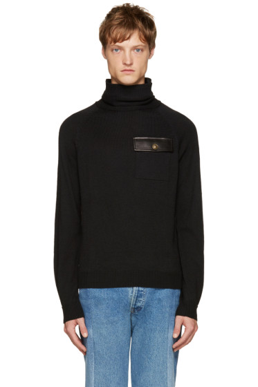 Versus - Black Pocket Turtleneck