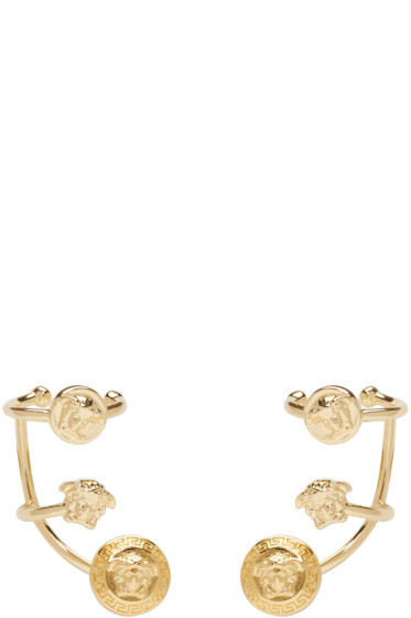 Versace - Gold Multi Cuff Earrings