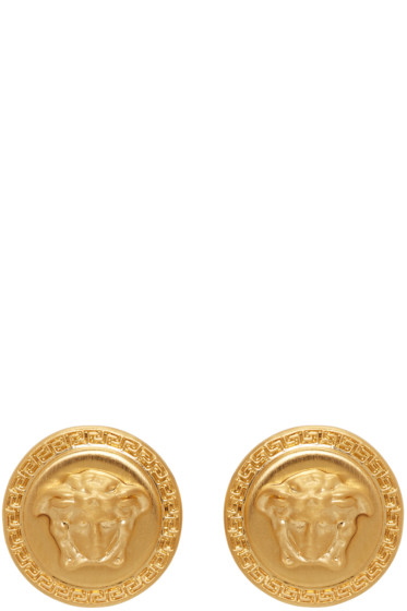 Versace - Gold Medusa Earrings