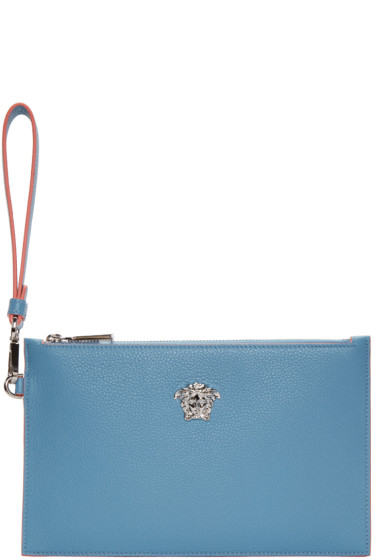 Versace - Blue Small Medusa Zip Pouch