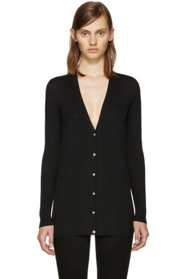 Versace - Black Wool Ribbed Cardigan