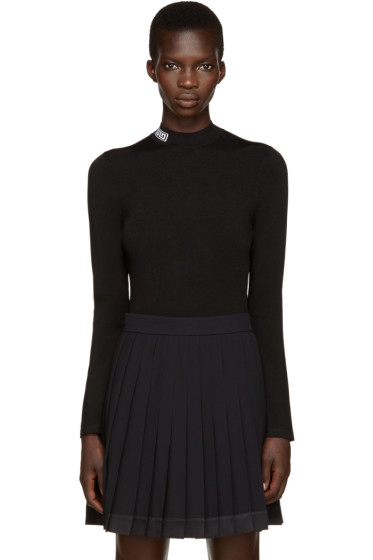 Versace - Black Mock Neck Sweater