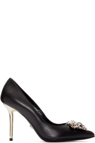 Versace - Black Leather Medusa Pumps