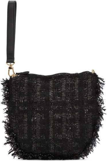 Simone Rocha - Black Tweed Clutch