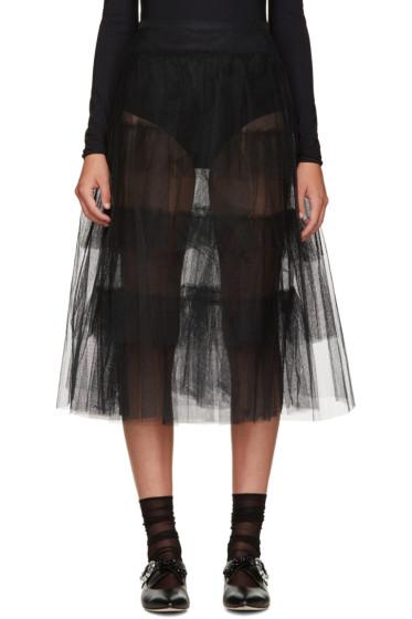Simone Rocha - Black Tulle Skirt