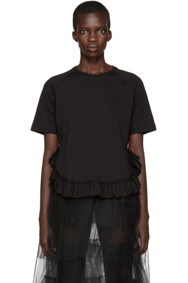 Simone Rocha - Black Ruffled T-Shirt