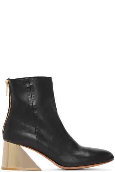 Undercover - Black Metallic Heel Boots