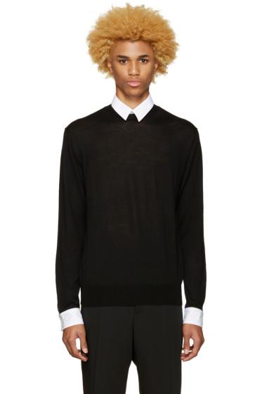 Undercover - Black Poplin Detail Sweater