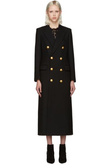 Saint Laurent - Black Gold Button Coat