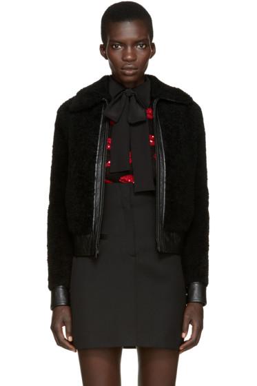 Saint Laurent - Black Shearling Jacket