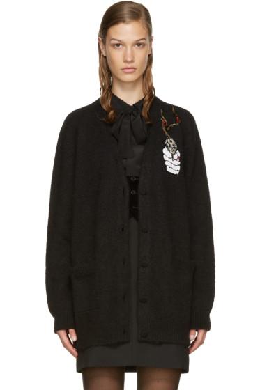 Saint Laurent - Black Embroidered Cardigan