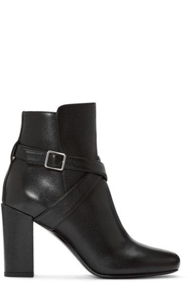 Saint Laurent - Black Strap Babies Boots