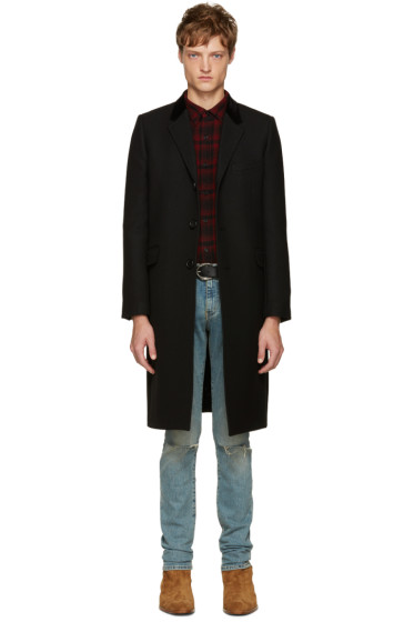Saint Laurent - Black Long Wool Coat