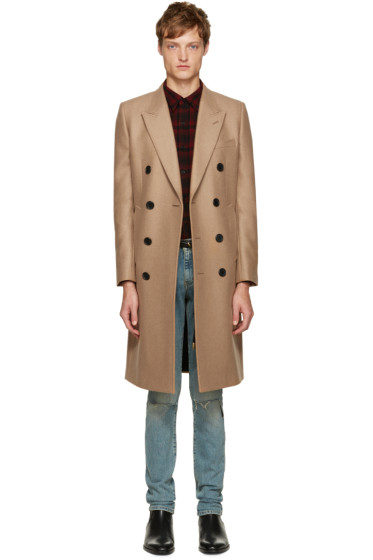 Saint Laurent - Tan Long Coat