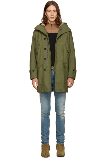 Saint Laurent - Khaki Canvas M51 Parka