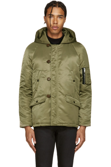 Saint Laurent - Green Nylon Parka