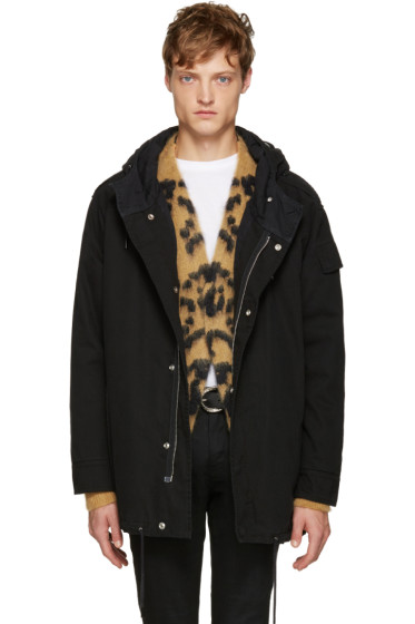 Saint Laurent - Black Twill Parka