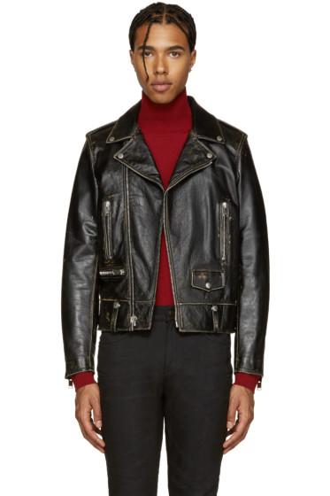 Saint Laurent - Black Classic Motorcycle Jacket