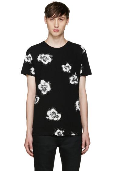 Saint Laurent - Black Floral T-Shirt