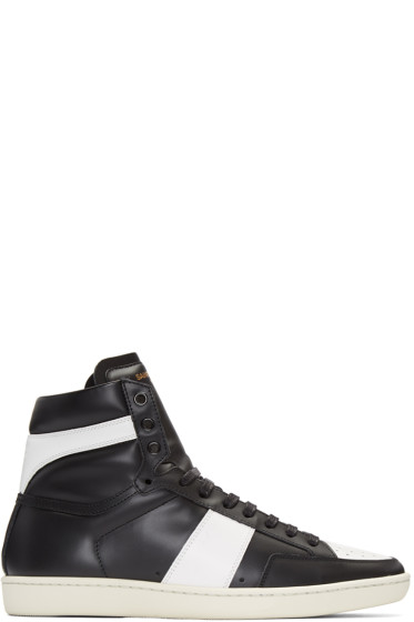 Saint Laurent - Black SL/10 Court Classic Sneakers