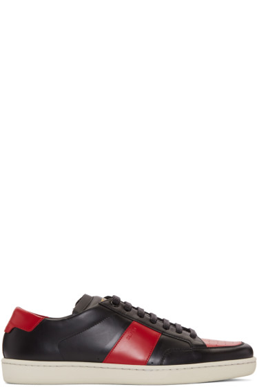 Saint Laurent - Black & Red Court Classic Sneakers