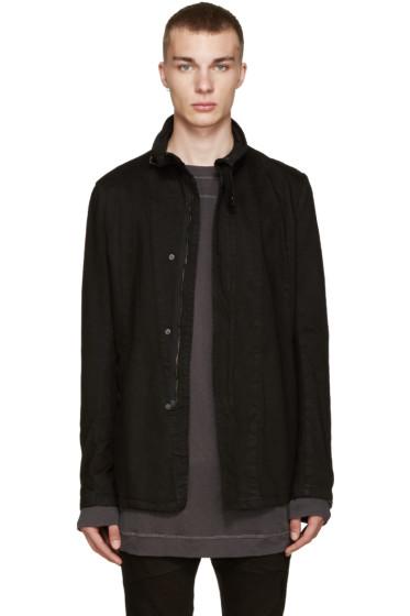 Julius - Black Denim Asymmetric Jacket