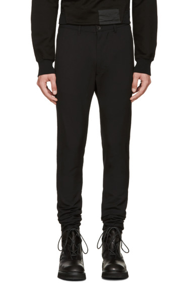 Julius - Black Wool Skinny Trousers