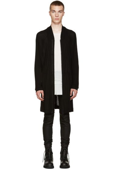 Julius - Black Long Zip-Up Hoodie
