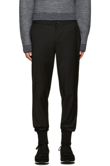 PS by Paul Smith - Black Wool Drawstring Trousers