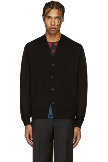PS by Paul Smith - Black Merino Wool Cardigan