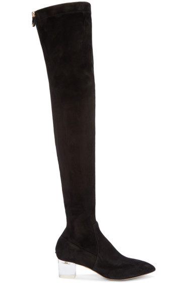Charlotte Olympia - Black Suede Endless Boots