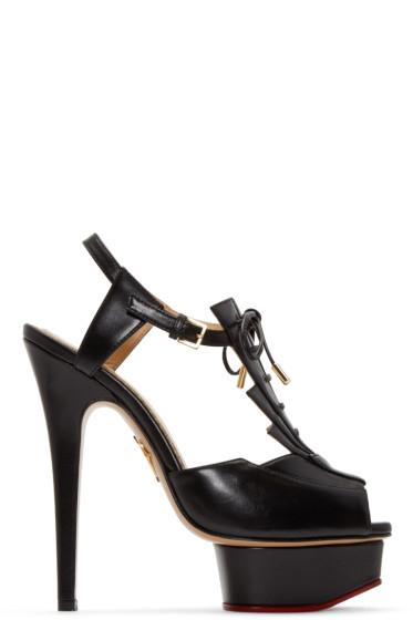 Charlotte Olympia - Black Deco Maxine Sandals