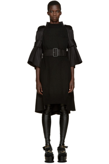 Sacai - Black Trench Dress