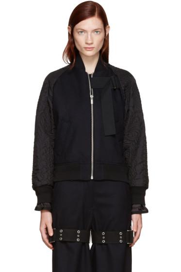 Sacai - Navy Wool Bomber Jacket