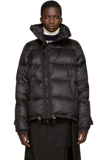 Sacai - Black Quilted Down Jacket
