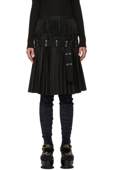Sacai - Black Classic Pleated Shirting Skirt