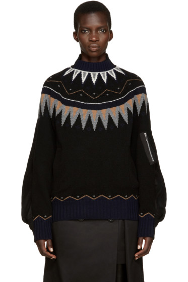 Sacai - Black Ski Sweater