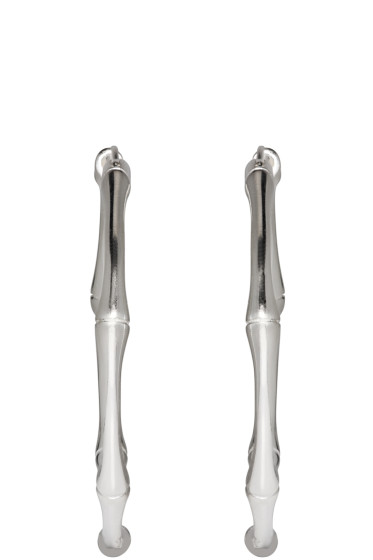 Gucci - Silver Bamboo Hoop Earrings