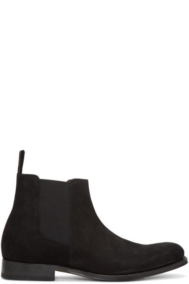 Grenson - Black Suede Declan Chelsea Boots