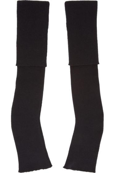 Stella McCartney - Black Long Fingerless Gloves